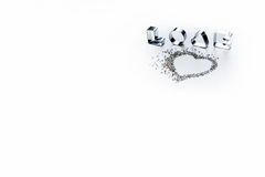 The word love on a white background Royalty Free Stock Photos