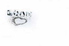 The word love on a white background Stock Photography