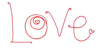 Word love of wire on a white background Stock Image