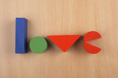Word love Stock Photography