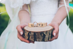 Word love from wooden cubes contained Stock Photography