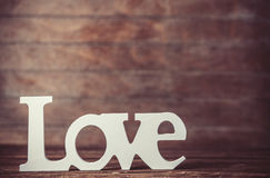 Word love Stock Photo