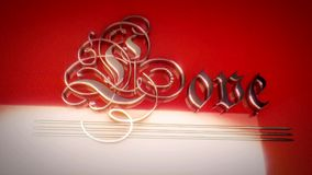 The word love written in retro style stock footage