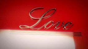 The word love written in retro style stock video footage