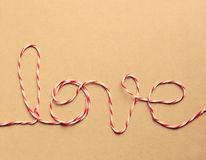 The word love written with rope Royalty Free Stock Photo