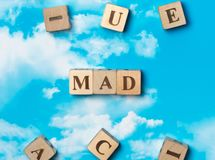 The word mad stock image