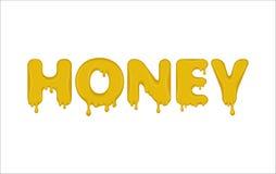 Word made of honey. Royalty Free Stock Photo