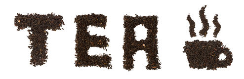 Word made of tea Stock Images