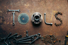 The word made of tools stock image