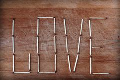 The word is made up of matches Royalty Free Stock Images