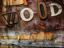 Word made from wooden letters Stock Photos