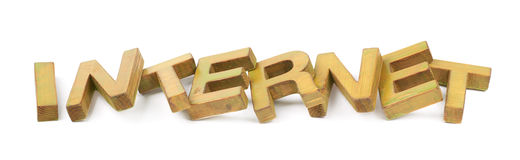 Word made of wooden letters isolated Stock Images