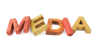 Word made of wooden letters isolated Royalty Free Stock Images