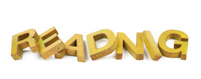 Word made of wooden letters isolated Stock Photo