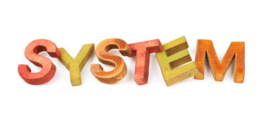 Word made of wooden letters isolated Stock Image