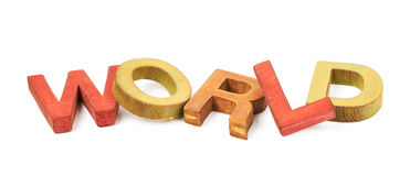 Word made of wooden letters isolated Royalty Free Stock Photos
