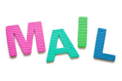 Word MAIL. Isolated on the white background Stock Images