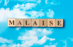 The word Malaise Stock Photo