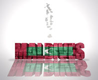 Word Maldives on a map background Royalty Free Stock Images