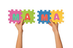 Word mama Stock Image