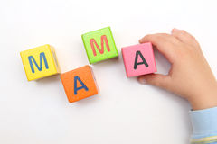 Word mama on cubes Stock Photo