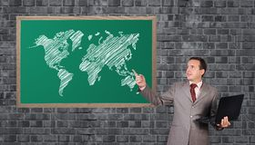 Word map on blackboard Royalty Free Stock Photos