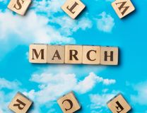 The word March royalty free stock photography