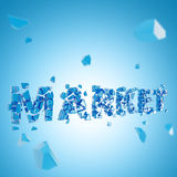 Word market broken into pieces background Stock Photo