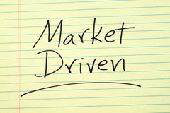 Market Driven On A Yellow Legal Pad Royalty Free Stock Photo