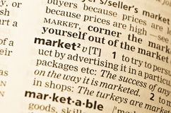 The word market in the old Stock Images