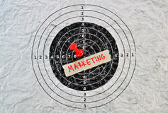 Word Marketing. Conceptual message for importance of matketing in the business plan Royalty Free Stock Image