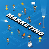 Word marketing with people and tags Royalty Free Stock Images