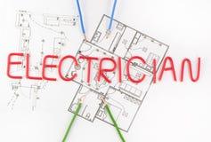 Word master electrician Stock Photos