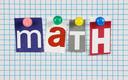 The word Math Stock Images