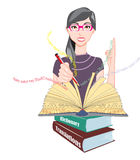 Word Meanings and Translations, illustration Stock Image