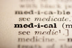 Word medical Stock Image