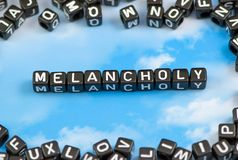 The word melancholy Royalty Free Stock Image