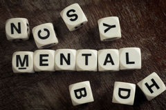 Word mental on toy cubes Royalty Free Stock Photo