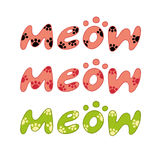 Word meow vector Stock Photo