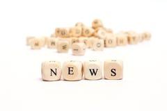 Word met dobbelt nieuws Royalty-vrije Stock Foto's
