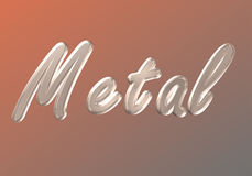 Word metal Stock Photo