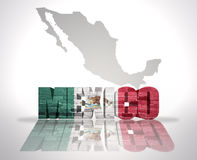 Word Mexico on a map background Royalty Free Stock Image