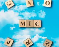 The word MI6. On the sky background Stock Photography