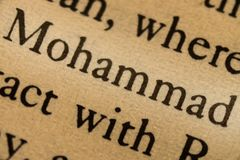 Word mohammed. In the text Royalty Free Stock Photography