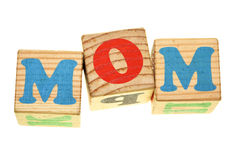 Word MOM Royalty Free Stock Photography