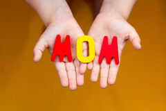 Word mom Stock Image