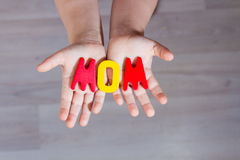 Word mom Royalty Free Stock Images