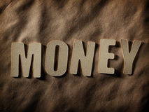 The word Money on paper background Royalty Free Stock Photography