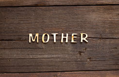 The word of Mother Stock Image