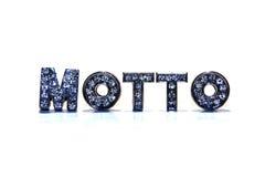 Word MOTTO on white background Stock Image